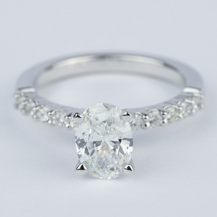 Delicate Shared-Prong 1.07 Carat Oval Diamond Engagement Ring