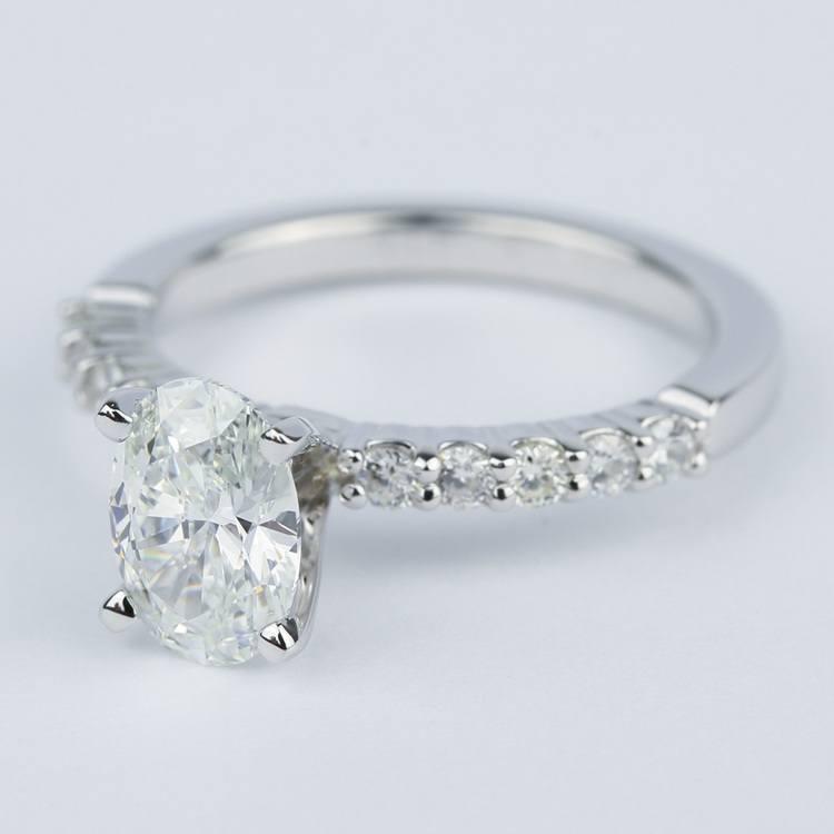 Stone Shared Prong Diamond Ring