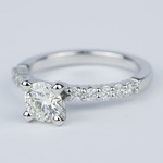 Shared-Prong Pave Diamond Engagement Ring (.70 Carat) - small angle 2