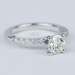 Shared-Prong Pave Diamond Engagement Ring (.70 Carat) - small angle 3