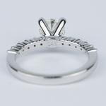 Shared-Prong Pave Diamond Engagement Ring (.70 Carat) - small angle 4