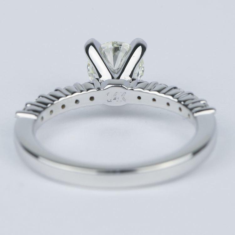 Shared-Prong Pave Diamond Engagement Ring (.70 Carat) angle 4