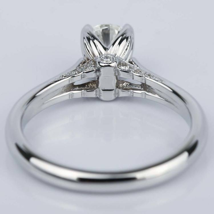 Designer Diamond Engagement Ring in White Gold (0.47 ct.) angle 4