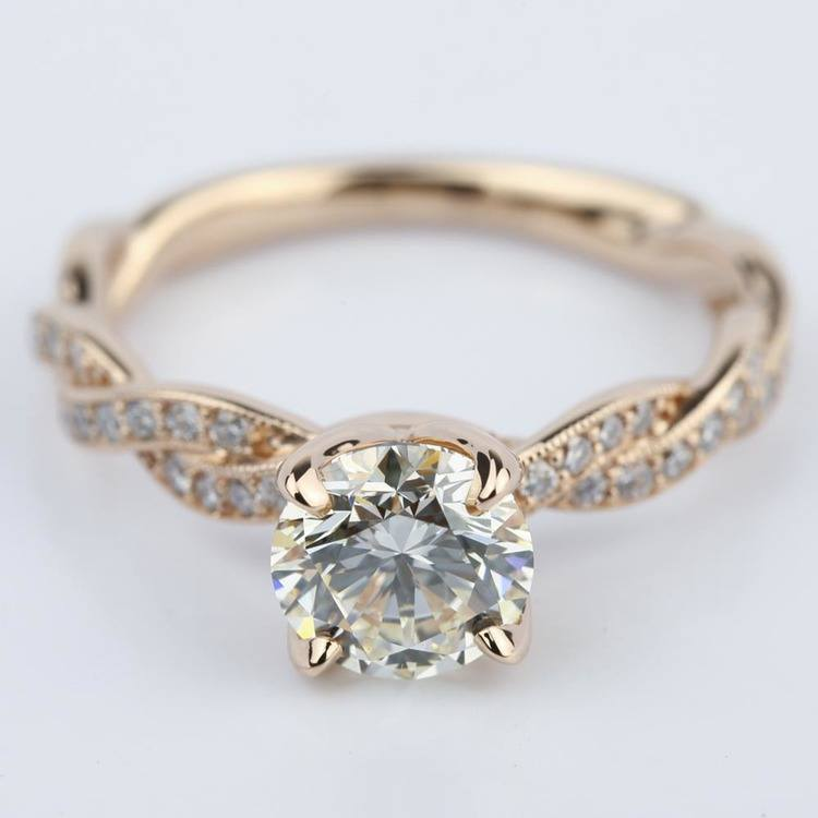 Designer Engagement Ring in Rose Gold by Parade (1.28 ct.)
