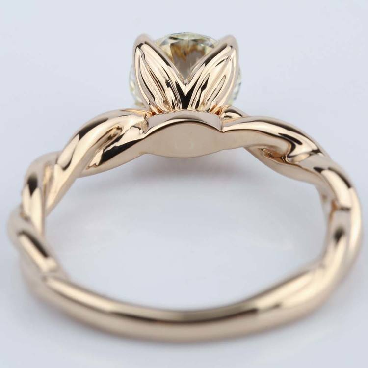 Designer Engagement Ring in Rose Gold by Parade (1.28 ct.) angle 4