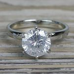 Diamond Dazzling Solitaire 2.50 Carat Six Prong Engagement Ring - small