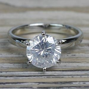 Diamond Dazzling Solitaire 2.50 Carat Six Prong Engagement Ring