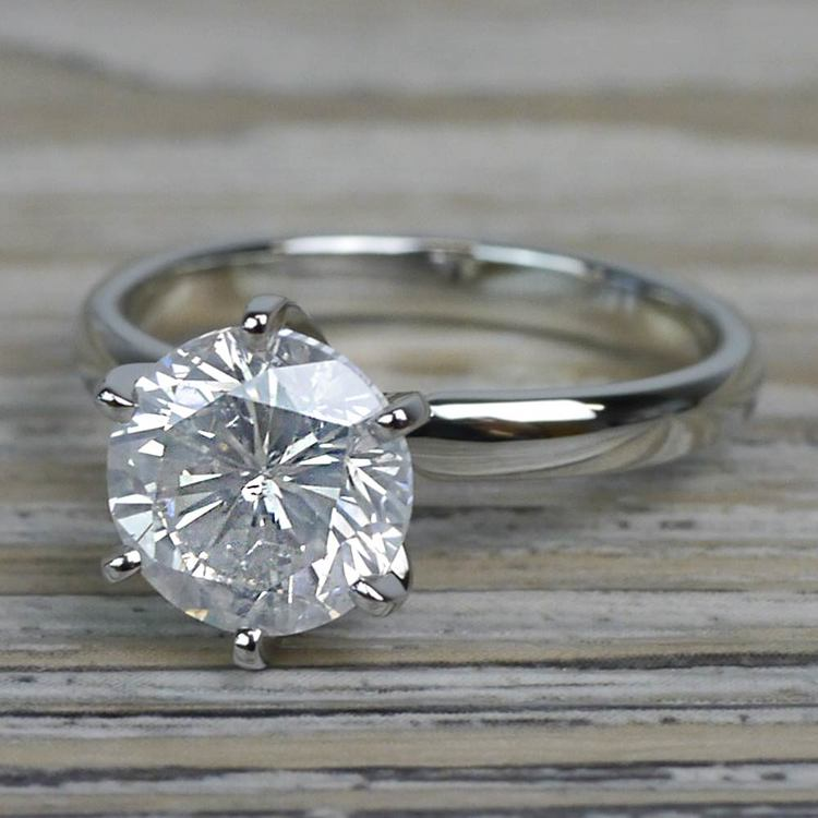 Diamond Dazzling Solitaire 2.50 Carat Six Prong Engagement Ring angle 2