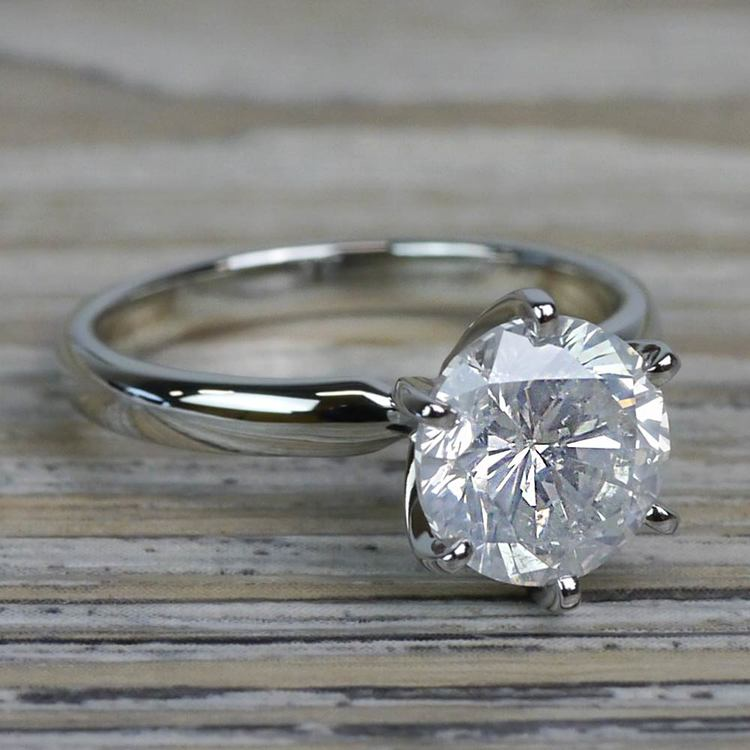 Diamond Dazzling Solitaire 2.50 Carat Six Prong Engagement Ring angle 3