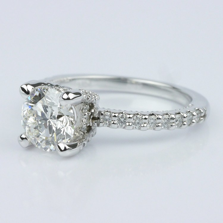 Diamond Engagement Ring with Inside Milgrain Accent (1.00 ct.) angle 2