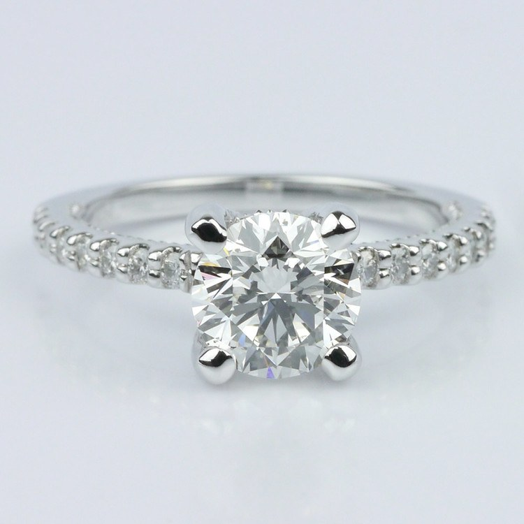 Diamond Engagement Ring with Inside Milgrain Accent (1.00 ct.)