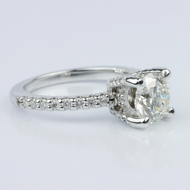 diamond engagement ring with inside milgrain accent 100 ct