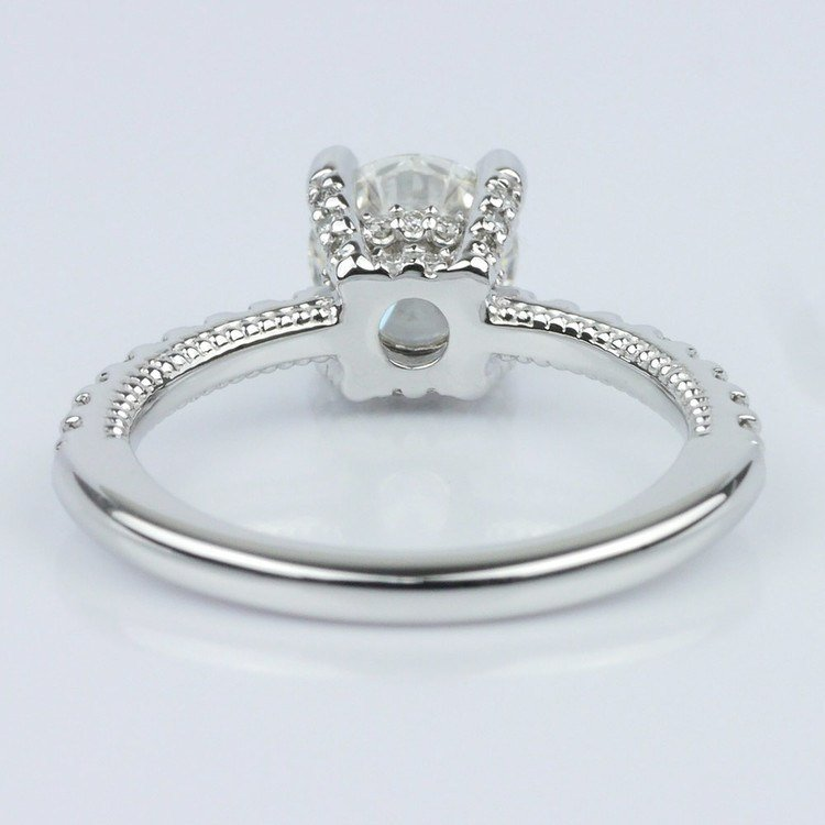 Diamond Engagement Ring with Inside Milgrain Accent (1.00 ct.) angle 4