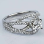 Double Cross Split Shank Diamond Engagement Ring (0.91 ct.) - small angle 3