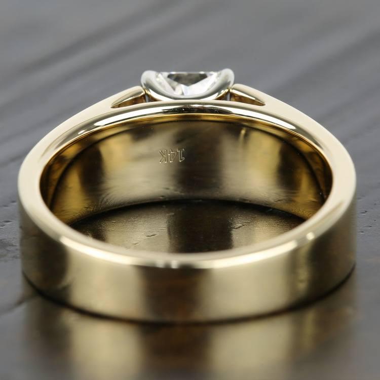 Twin Radiant Diamond Men's Engagement Ring angle 4