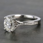 Elegant Shared-Prong Oval Cut Loose Diamond Engagement Ring - small angle 2