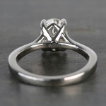 Elegant Shared-Prong Oval Cut Loose Diamond Engagement Ring - small angle 4