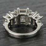 Custom Emerald Moissanite Five-Stone Engagement Ring - small angle 4