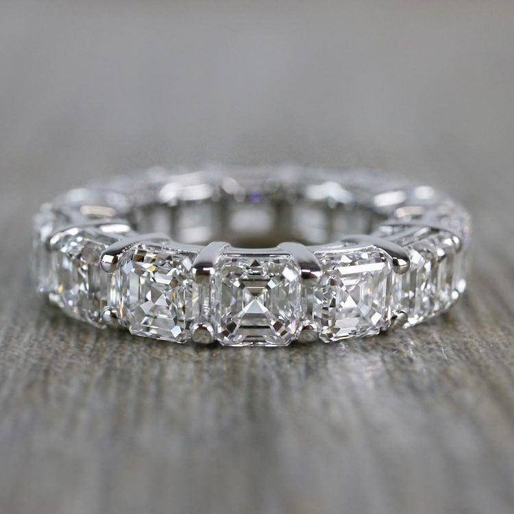 Exquisite Custom Asscher Diamond Eternity Band