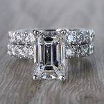 Extraordinary Emerald Cut Diamond Ring with Matching Eternity Band - small