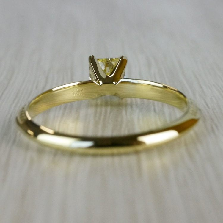 Fabulous Fancy Yellow Diamond Antique Engagement Rings angle 4
