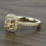 Fancy 1.52 Carat Cushion Halo Diamond Engagement Ring - small angle 2