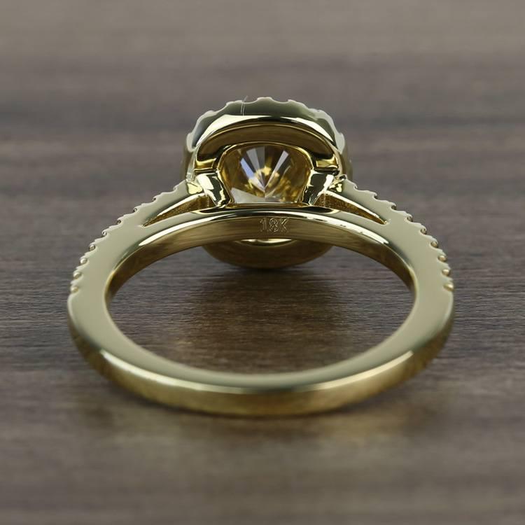 Fancy 1.52 Carat Cushion Halo Diamond Engagement Ring angle 4