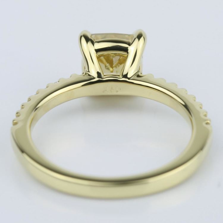 Fancy Yellow Cushion Diamond Engagement Ring (1.52 ct.) angle 4