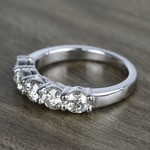 Five Diamond Wedding Band In White Gold (1.50 Carat) - small angle 2