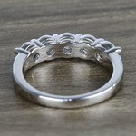 Five Diamond Wedding Band In White Gold (1.50 Carat) - small angle 4