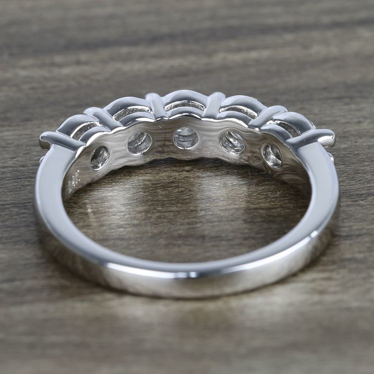 Five Diamond Wedding Band In White Gold (1.50 Carat) angle 4