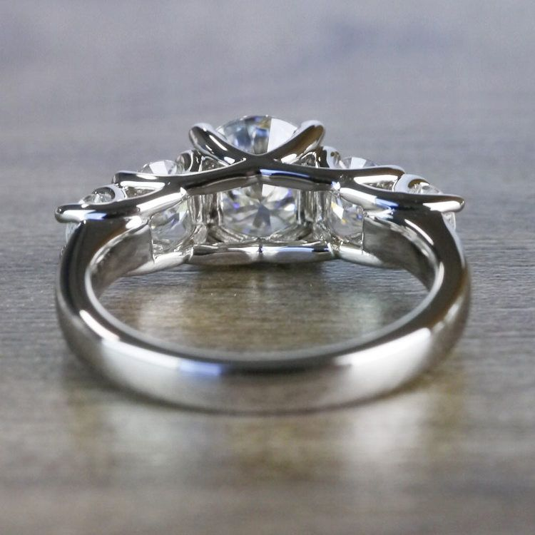 Five Stone Forever One Moissanite Diamond Engagement Ring angle 4
