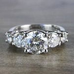 Five Stone Forever One Moissanite Diamond Engagement Ring - small