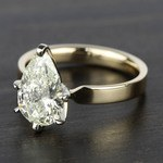2 Carat Pear Diamond in Solitaire Gold Engagement Ring - small angle 2