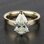 2 Carat Pear Diamond in Solitaire Gold Engagement Ring - small