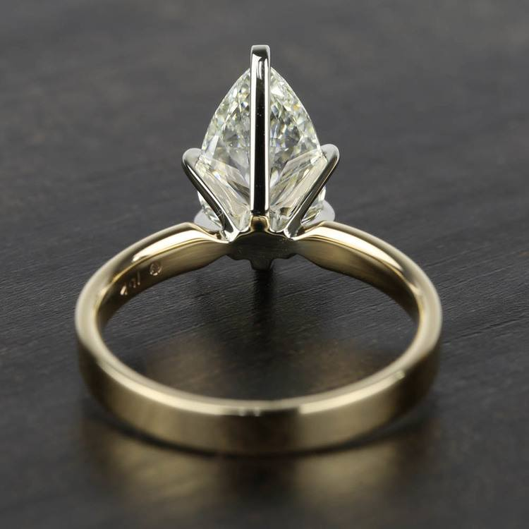 2 Carat Pear Diamond in Solitaire Gold Engagement Ring angle 4