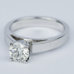 Flat Cathedral Round Diamond Engagement Ring (0.90 ct.) - small angle 2