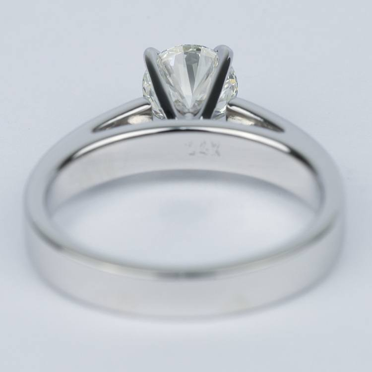 Flat Cathedral Round Diamond Engagement Ring (0.90 ct.) angle 4
