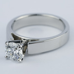 Flat Cathedral Solitaire Engagement Ring (1.01 ct.) - small angle 2