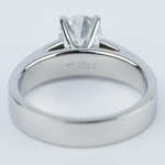 Flat Cathedral Solitaire Engagement Ring (1.01 ct.) - small angle 4