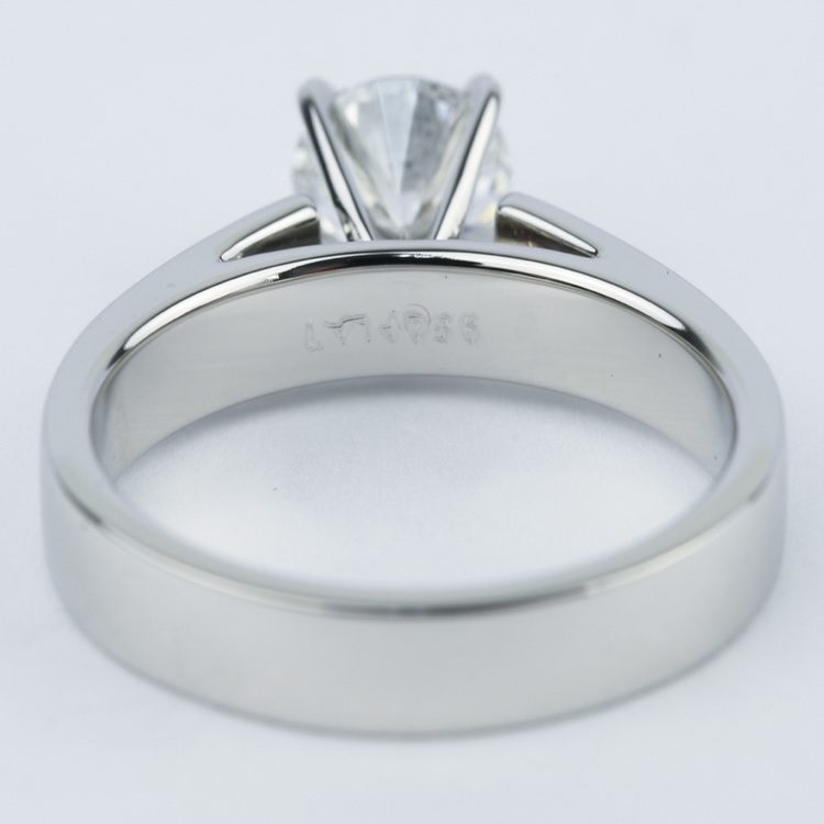 Flat Cathedral Solitaire Engagement Ring (1.01 ct.) angle 4
