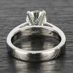 Flat Cathedral Round Diamond Solitaire Ring (1.19 ct.) - small angle 4