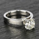 Flat Cathedral Round Diamond Solitaire Ring (1.19 ct.) - small angle 3
