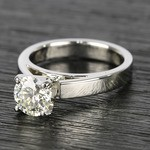 Flat Cathedral Round Diamond Solitaire Ring (1.19 ct.) - small angle 2