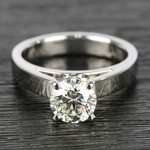 Flat Cathedral Round Diamond Solitaire Ring (1.19 ct.) - small