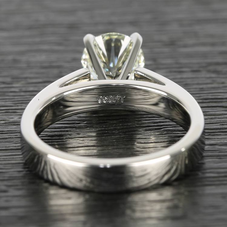 Flat Cathedral Round Diamond Solitaire Ring (1.19 ct.) angle 4