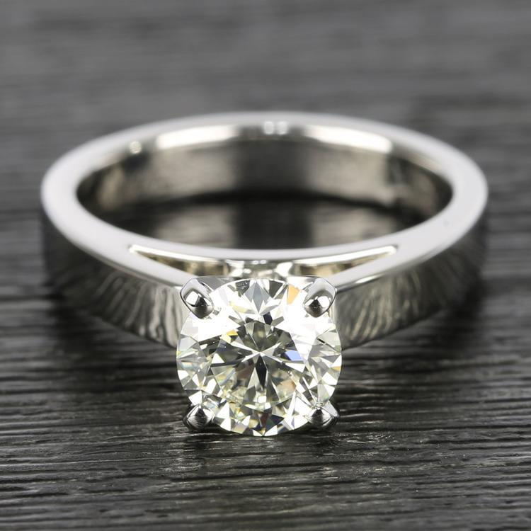 Flat Cathedral Round Diamond Solitaire Ring (1.19 ct.)