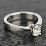 Flat Taper 1/2 Carat Oval Diamond Engagement Ring - small angle 3