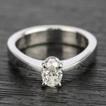 Flat Taper 1/2 Carat Oval Diamond Engagement Ring - small