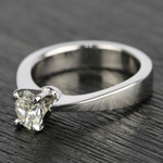 Flat Taper 1/2 Carat Oval Diamond Engagement Ring - small angle 2